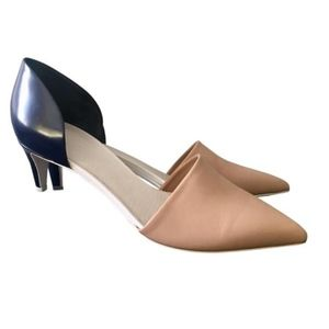 VINCE color block Two Toned d'Orsay kitten heels